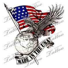 Marketplace Tattoo Made in the USA #2418   CreateMyTattoo.com