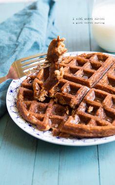 GF pumpkin waffles using coconut flour. WEIRD texture- bland taste