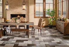 Buy the Armstrong Flooring Heritage Creations Direct. Shop for the Armstrong Flooring Heritage Creations Grain Directions - Wide Vinyl Plank Flooring - Textured Wood Appearance- Sample and save. Decor, Popular Decor, Dining Room Floor, Hardwood Floors, Home Decor, Armstrong Flooring, Types Of Flooring, Vinyl Flooring, Best Dining