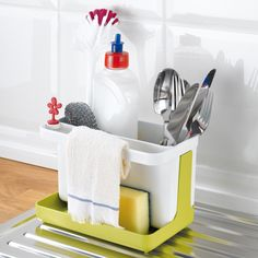Koziol PARK IT Sink Organiser & Cutlery Drainer. The perfect partner for the Dry It dish drainer!