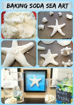 Baking Soda Sea Art - Quick and Easy Baking Soda dough recipe and starfish tutorial