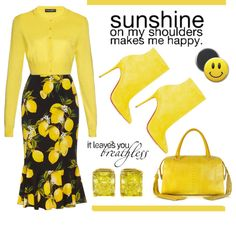 Sunshine by conch-lady on Polyvore featuring Dolce&Gabbana, Christian Louboutin, Ghibli and Tiffany & Co.
