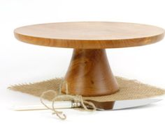 Walnut Cake Stand Turned Wood Cake Platter Cake by WoodExpressions