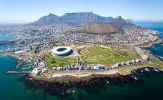 A chegada na Cidade do Cabo, na África do Sul (Foto: Reprodução/PrivateFly)