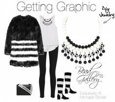 Getting Graphic look board #madewithmichaels #beadgallery