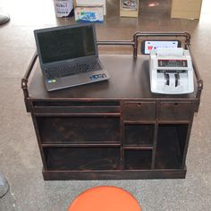 American country to do the old wrought iron cashier reception table reception table, bar cabinet computer desk