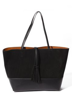 Street Level Suede Reversible Tote | South Moon Under