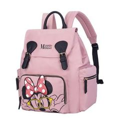 For Sale - Disney Minnie Mummy Maternity Nappy Bag Backpack Large capacity Waterproof Baby Travel Stroller Bag Diaper Bag For Baby Care Diapering Stroller Bag, Travel Stroller, Mini Mochila, Big Handbags, Cute Backpacks, Diaper Bag Backpack, Junior, Traveling With Baby, Cute Bags