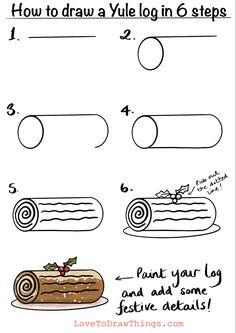 Cute Easy Drawings, Art Drawings For Kids, Doodle Drawings, Drawing For Kids, Easy Christmas Drawings, Christmas Doodles, Christmas Art, Xmas, Bullet Journal Art