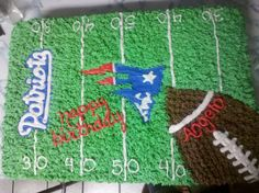 New England #Patriots cake