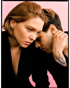 Xavier Dolan and Léa Seydoux captured in a black & white image for Madame Figaro. Xavier Dolan, Cute Couple Selfies, Gaspard Ulliel, Picsart, French Actress, Poses, Couple Shoot, Couple Photography, Marie