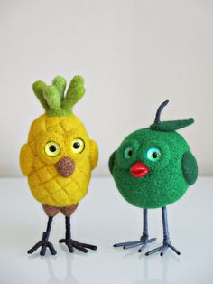 Felted birds, funny birds, cute birds