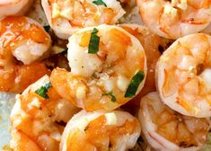 10 Minute Garlic Butter Baked Shrimp is an easy recipe for perfectly cooked, garlicky, buttery shrimp that is baked on a sheet pan in just 10 minutes! Shrimp Dishes, Fish Dishes, Shrimp Recipes, Fish Recipes, Low Carb Recipes, Great Recipes, Cooking Recipes, Healthy Recipes, Main Dishes