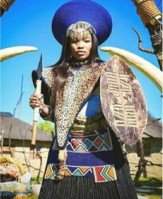 African Traditional Zulu Bride Attire for Women In the Zulu tradition, a couple is not seen to be married until a special ceremony called Umabo is done or completed. And because Umabo ceremony is e… Zulu Traditional Attire, Zulu Traditional Wedding, African Traditional Dresses, Traditional Clothes, African Fashion Designers, African Inspired Fashion, African Men Fashion, African Women, African Wedding Attire