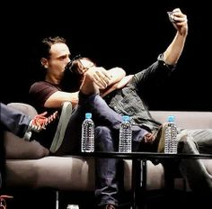 Andrew Lincoln And Norman Reedus Bromance selfie