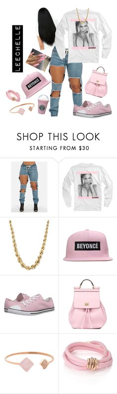 """#MyBeyoncé👌🏾😊"" by juicyums ❤ liked on Polyvore featuring Converse, Dolce&Gabbana, Michael Kors and de Grisogono"