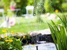 Vesiaihe sovitetaan pihan mukaan. Kaupunkiin sopivat tyylikkäät rakennelmat, maalle istuu luonnonmukaisuus.