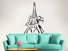 Eiffel Tower Wall Decal Vinyl Stickers Decals by IncredibleDecals