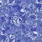 Music Collection Fabric: Jacob's Court, Periwinkle (per 1/4 metre)