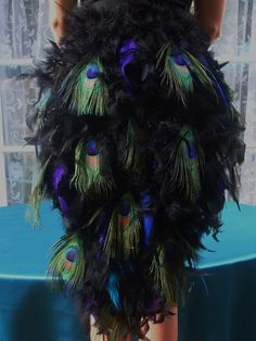 S/Med Elegant Peacock Tail - Order Now for Guaranteed Delivery by Halloween Peacock Halloween, Peacock Costume, Fall Halloween, Halloween Ideas, Halloween Outfits, Halloween Costumes, Halloween Clothes, Halloween Makeup, Peacock Tail