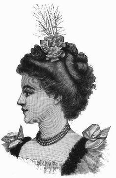 Vintage Hairstyles hairstyles from 1800s Hairstyles, Historical Hairstyles, Edwardian Hairstyles, Vintage Hairstyles, Wedding Hairstyles, 1890s Fashion, Edwardian Fashion, Edwardian Dress, Fashion Illustration Vintage