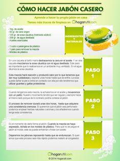 Infografía: cómo hacer jabón en casa  #infografia #limpieza
