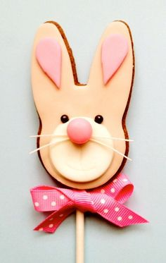 Easter bunny cookie pop