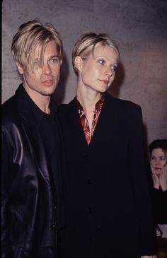 Brad Pitt and Gwyneth Paltrow rocking the same haircut.