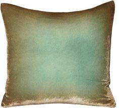 kevin o'brien ombre velvet pillow - antique - ABC Carpet & Home