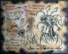 Cthulhu larp PRIMAL demonio Necronomicon fragmento