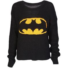 Batman Knitted Jumper ($17) ❤ liked on Polyvore featuring tops, sweaters, shirts, batman, shirt sweater, jumpers sweaters, jumper shirt, low top and jumper top