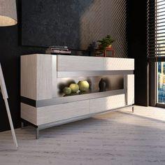 ▷ Aparadores: Diseño y Funcionalidad para tu Salón ® Wooden Furniture, Furniture Design, Credenza, Dining Room, Interior Design, Storage, Table, Decoration, Home Decor