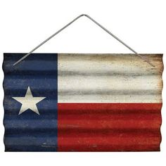 Wilco Home Texas Flag Corrugated Wall Décor