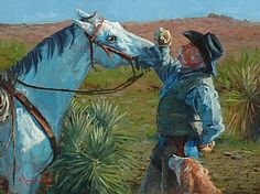 Dog and Pony Show by Jim Clements Oil ~ 9 x 12