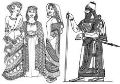 Ancient Israelite dress | Ancient Assyrian Clothing