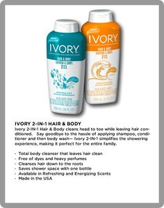 Add Ivory 2 in 1 hair & body wash to you shower essentials for some serious cleaning.. You will love it.. #gotitfree