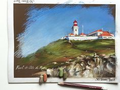 Маяк Cabo da Roca⚓️ #пастель #рисуюпастелью #softpastel #softpastels #canson #cansonpaper #cansontouch #cabodaroca