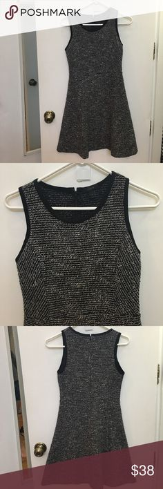 J. Crew fit and flare dress This dress is great for work! It's a stretchy material and look great with black tights. It is also in good condition (no damage or stains) J. Crew Dresses Mini