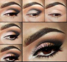 20 Tutoriales de Maquillaje Para ojos Marrones3