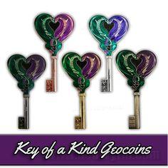 Key of a Kind, #Dragon #Geocoins http://stores.geowyrm.com/geocoin-key-of-a-kind-set-of-5/