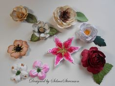 Selma's Stamping Corner and Floral Designs: Build A Flower