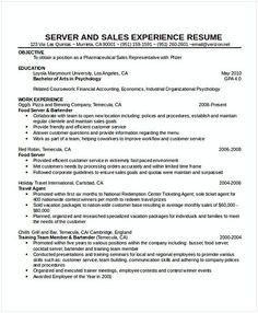 Cocktail Waitress Resume Hotel And Restaurant Management Being In A Hospitality Both Challenging