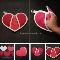 How to DIY Heart Shaped Potholder thumb
