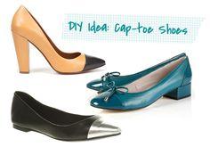 DIY Idea: Cap-Toe Shoes