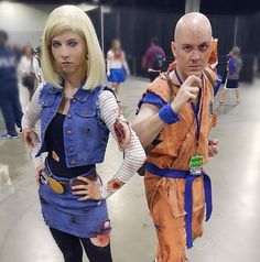 @katilatah with @vinthehuman_ Android18 and Krillin