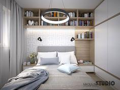 MAŁA SYPIALNIA Studio Apartment Layout, Small Apartment Design, Small Bedroom Designs, Small Room Bedroom, Master Bedroom Design, Home Bedroom, Living Room Inspiration, Interior Design Inspiration, Home Interior Design