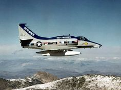 """A-4M Skyhawk (BuNo 160264) being delivered to VMA-331 """"Bumblebees"""" in February 1979. It was the last (2,960th) Skyhawk built by Douglas Aircraft."""