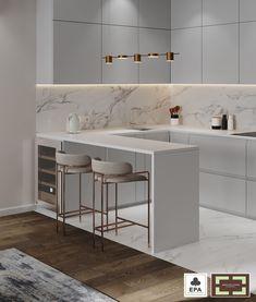 Luxury Kitchen Design, Kitchen Room Design, Home Room Design, Kitchen Cabinet Design, Home Decor Kitchen, Interior Design Kitchen, Modern Interior Design, Modern Kitchen Interiors, Kitchen Design Minimalist