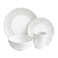 FREE SHIPPING! Shop Joss & Main for your 16-Piece Alicia Dinnerware Set. The Lark Manor Yaelle Leaf Round 16 Piece Dinnerware Set makes for a charming addition to your crockery collection.