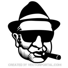 Vector illustration of a gangster.